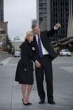 Couple on City Street Stock Image