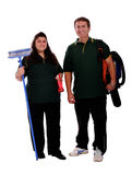 Couple of cleaners Royalty Free Stock Photography
