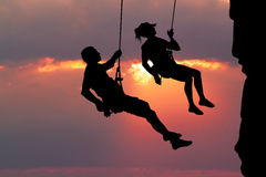 Couple climber Royalty Free Stock Photos