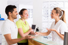 Couple in clinic family planning Stock Photography