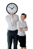 Couple and clock Royalty Free Stock Image