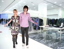 Couple in Clothes boutique Stock Photography