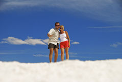 Couple In Clouds Royalty Free Stock Images