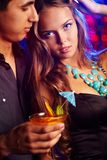 Couple at club Royalty Free Stock Photo