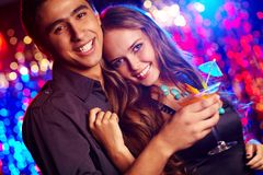 Couple of clubbers Royalty Free Stock Photography