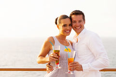 Couple cocktails cruise Royalty Free Stock Photography