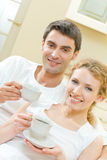 Couple with coffee Royalty Free Stock Image