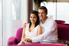 Couple coffee shop Royalty Free Stock Images