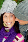 Couple coldness Stock Photo