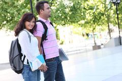 Couple at College Stock Images