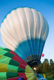 Couple of colored balloons prepare to fly Royalty Free Stock Image