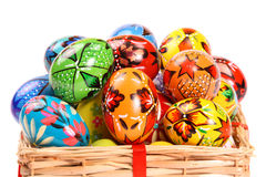 Couple of colorful Easter Eggs Stock Photo