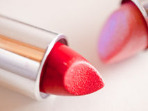 Couple of colorful lipsticks. A still-life of some colorful lipstick stock photography