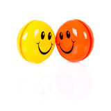 Couple of colorful smileys Royalty Free Stock Photo