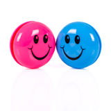 Couple of colorful smileys Royalty Free Stock Photos