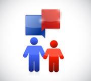 Couple communication illustration design Royalty Free Stock Photos
