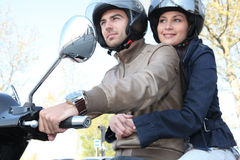 Couple commuting to work Stock Photography