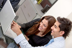 Couple with a computer Stock Photos