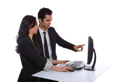Couple with Computer Royalty Free Stock Image