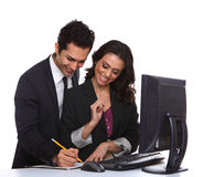 Couple with Computer Stock Photography
