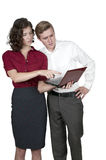 Couple with computer Royalty Free Stock Images
