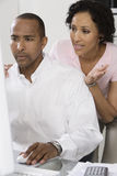 Couple Concerned About Money Royalty Free Stock Photo