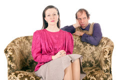 Couple conflict Royalty Free Stock Image