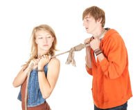 Couple conflict Royalty Free Stock Photos