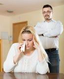 Couple conflict Stock Photo