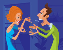 Couple conflict Stock Images