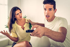 Couple Conflict Royalty Free Stock Images