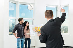 Couple is considering future apartment design Royalty Free Stock Photography