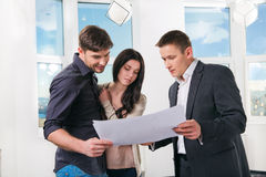 Couple is considering future apartment design Royalty Free Stock Image