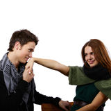 Couple considering marriage Stock Photo