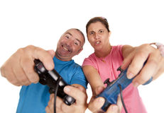 Couple console Stock Image