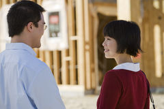 Couple At Construction Site Stock Photography