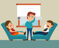 Couple consultation office therapy. Illustration eps 10 Stock Photography