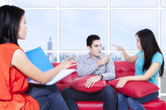 Couple is consulting to psychologist 1 Royalty Free Stock Photo