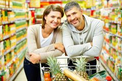 Couple of consumers royalty free stock photo