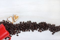 Romantic date with coffee aroma Stock Photos
