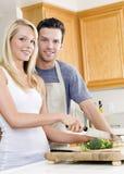 Couple cooking Stock Photos