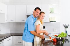 Couple cooking Royalty Free Stock Photography