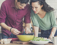 Couple Cooking Hobby Liefstyle Concept.  Stock Images