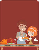 Couple  cooking for Thanksgiving Royalty Free Stock Photos