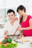 Couple of cooks Stock Image