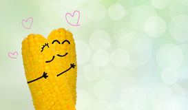 Couple corn in love Royalty Free Stock Photos