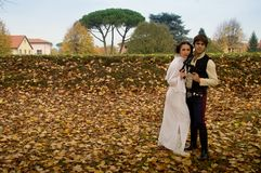 Han and Leia at Lucca Comics and Games 2017 Stock Image