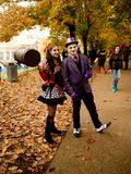 Joker and Harley Quinn at Lucca Comics and Games 2017 stock photos