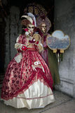 Couple with Costume in the Venice Italy Stock Photo