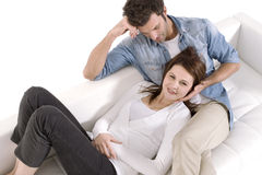 Couple on the couch Royalty Free Stock Photo
